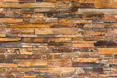 Stacked slate stone wall Stock Image