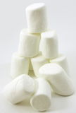 Stacked soft marshmallows Stock Images