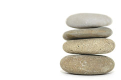 Stacked Spa Stones. Four stacked spa stones on a white background Stock Photo