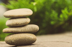 Stacked spa stones Stock Photography
