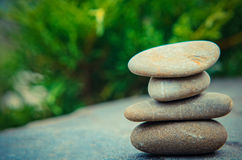 Stacked spa stones Stock Photo