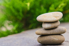 Stacked spa stones Stock Image