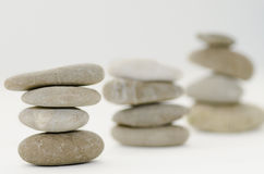 Stacked Spa Stones. On a white background Royalty Free Stock Photo