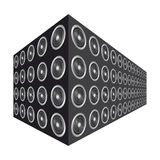 Stacked speakers Stock Photography