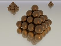 Stacked Spheres Royalty Free Stock Photo