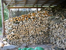 Firewood log stack Royalty Free Stock Images