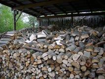 Firewood log stack Stock Photos