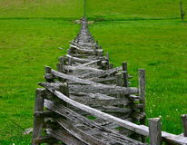 Stacked Split-Rail Fences in Virginia Royalty Free Stock Image