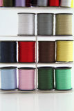 Stacked spools of thread. Stock Photos
