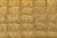 Stacked square bales of straw Royalty Free Stock Photo