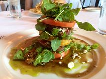 Stacked steak salad at a restaurant Stock Photo