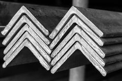 Stacked of Steel Angled Bar. royalty free stock photography
