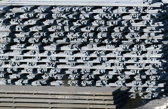 Stacked steel  bar Royalty Free Stock Photography