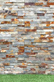 Stacked Stone Cladding Rustic Wall Royalty Free Stock Photo