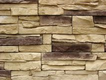 Stacked stone facade Royalty Free Stock Image