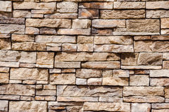 Stacked stone and mortar wall Royalty Free Stock Photography