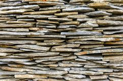 Stacked stone tiles Royalty Free Stock Image