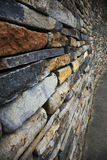 Stacked stone wall Stock Image