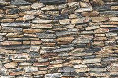 Stacked stone wall background. Royalty Free Stock Photography