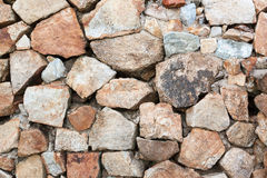 Stacked Stone Wall background Royalty Free Stock Image