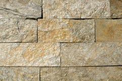 Stacked stone wall background daylight Stock Photography