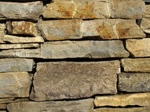 Stacked stone wall background Stock Photo