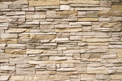 Stacked stone wall background horizontal Royalty Free Stock Photo