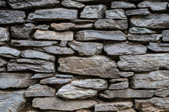 Stacked Stone Wall Background Royalty Free Stock Images