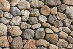 Stacked  Stone Wall background texture. Stock Image