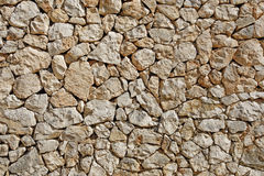 Stacked stone wall background Stock Photography