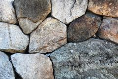 Stacked stone wall stock images