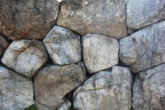 Stacked stone wall Royalty Free Stock Images