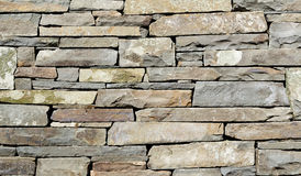 Stacked Stone Wall Detail royalty free stock images
