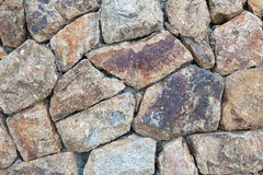Stacked stone wall. Royalty Free Stock Photos