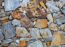 Stacked stone wall Royalty Free Stock Photography
