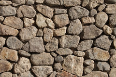 Stacked  Stone Wall with Shade background texture. Stock Photo