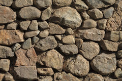 Stacked  Stone Wall with Shade background texture. Royalty Free Stock Photography