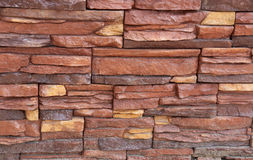 Stacked stone wall texture Royalty Free Stock Photography