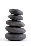 Stacked Stones. Spa Stones Stacked On On Top Of Another, Isolated Over White Stock Photography