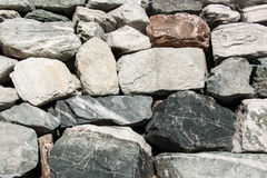 Stacked stones as a wall Royalty Free Stock Images