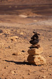 Stacked stones in Black Desert Stock Image