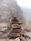 Stacked stones. Desert stones stacked up and balanced Stock Photography