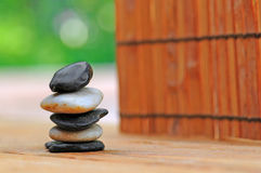 Stacked Stones in Garden Royalty Free Stock Image