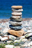 Stacked stones representing balance Royalty Free Stock Photos