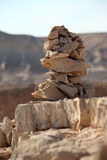 Stacked stones in a rocky environment Royalty Free Stock Photography
