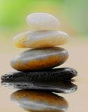 Stacked stones by water Royalty Free Stock Photography