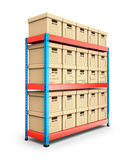 Stacked storage boxes Royalty Free Stock Photo
