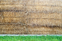 Stacked straw bales Royalty Free Stock Image