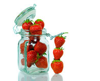Stacked Strawberries Stock Photo