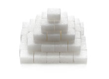 Stacked sugar cubes Royalty Free Stock Image